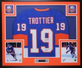 Bryan Trottier Autographed & Framed Blue New York Islanders Jersey Auto JSA COA