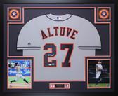 Jose Altuve Autographed & Framed Gray Houston Houston Astros Auto Beckett COA
