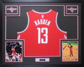James Harden Autographed & Framed Red Houston Houston Rockets Auto Fanatics COA