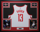 James Harden Autographed & Framed White Houston Houston Rockets Auto Fanatics COA