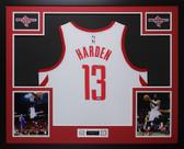 James Harden Autographed & Framed White Houston Houston Rockets Auto Fanatics COA