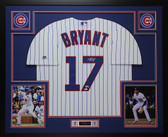 Kris Bryant Autographed & Framed Pinstriped Chicago Cubs Jersey Auto JSA COA
