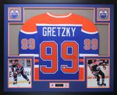 Wayne Gretzky Autographed & Framed Blue Edmonton Oilers Jersey Beckett COA