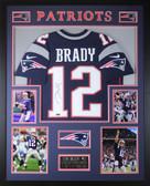 Tom Brady Autographed & Framed Navy New England Patriots Jersey Auto Tristar COA