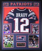 Tom Brady Autographed & Framed Navy New England Patriots Jersey Autograph Tristar COA