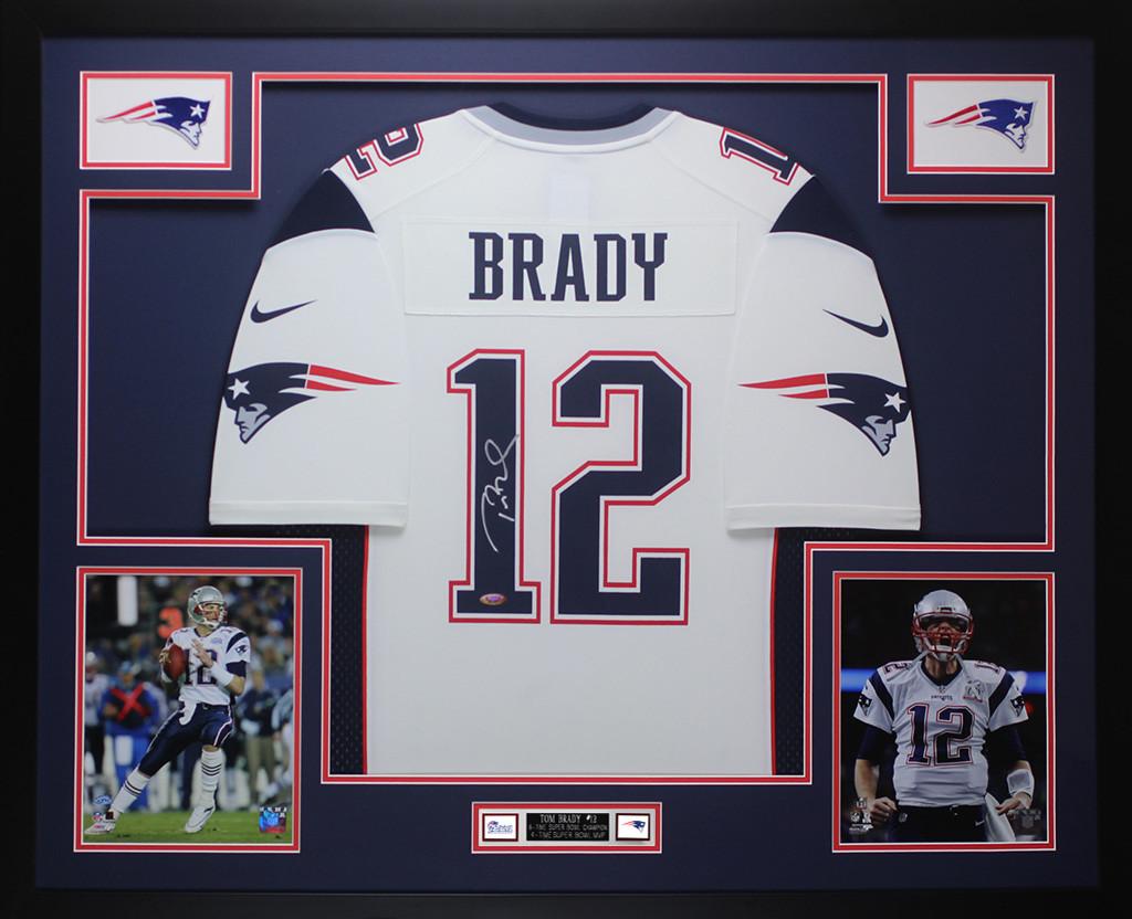 framed tom brady jersey