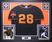Buster Posey Autographed & Framed Black San Francisco Giants Jersey Auto Beckett COA