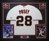 Buster Posey Autographed & Framed Cream San Francisco Giants Jersey Auto Beckett COA