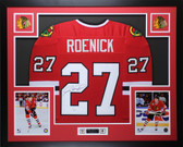 Jeremy Roenick Autographed & Framed Red Chicago Blackhawks Jersey JSA COA