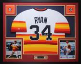 Nolan Ryan Autographed & Framed Rainbow Houston Astros Jersey Auto Beckett COA