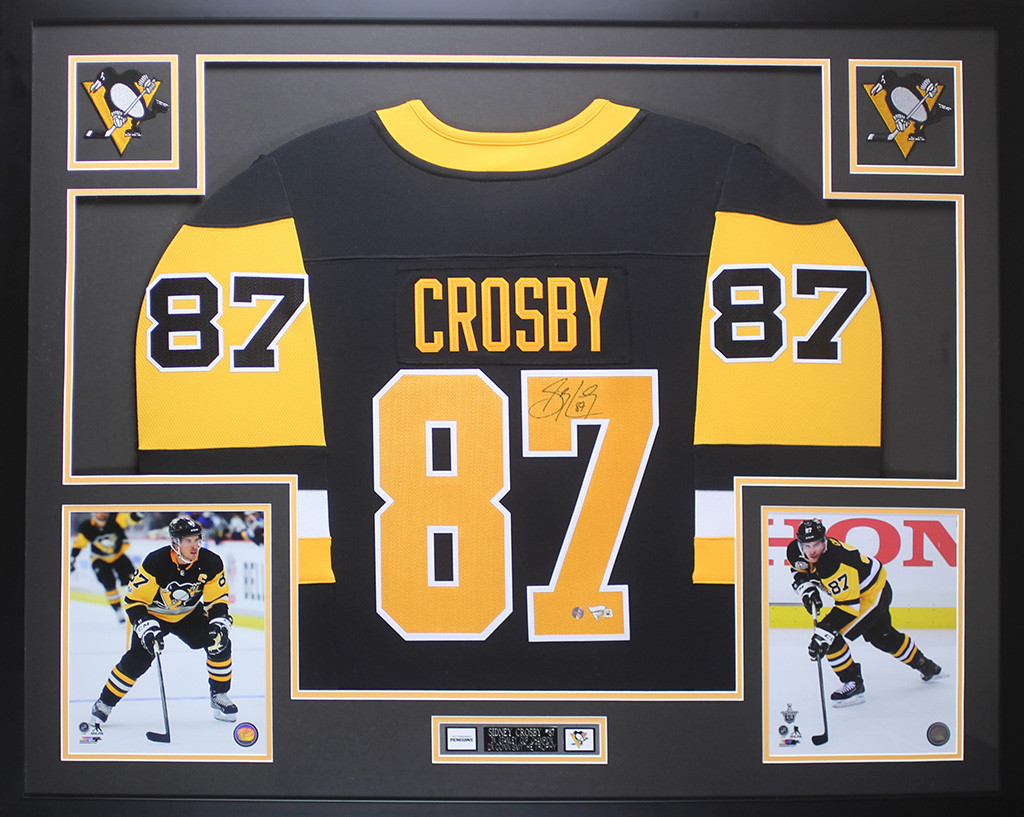 sidney crosby autographed jersey framed