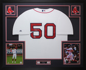 Mookie Betts Autographed & Framed White Boston Red Sox Jersey Auto Fanatics COA