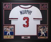 Dale Murphy Autographed & Framed White Atlanta Braves Jersey Auto JSA COA