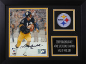 Terry Bradshaw Autographed & Framed 8x10 Steelers Photo Auto Beckett COA Design-8A