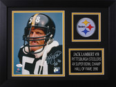 Jack Lambert Autographed & Framed 8x10 Steelers Photo Auto JSA COA Design-8A