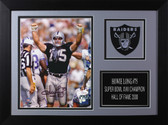 Howie Long Autographed & Framed 8x10 Raiders Photo Auto JSA COA Design-8A (Hands Up)
