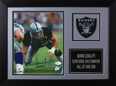 Howie Long Autographed & Framed 8x10 Raiders Photo Auto JSA COA Design-8A (3 Pt Stance)