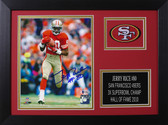 Jerry Rice Autographed & Framed 8x10 49ers Photo Auto Beckett COA Design-8A