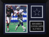 Deion Sanders Autographed & Framed 8x10 Cowboys Photo Auto JSA COA Design-8A