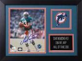 Dan Marino Autographed& Framed 8x10 Dolphins Photo Auto JSA COA Design-8A