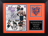 Walter Payton Autographed & Framed 8x10 Chicago Bears Photo Auto PSA COA Design-8A