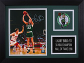 Larry Bird Autographed & Framed 8x10 Steelers Photo Auto Beckett COA Design-8A