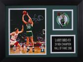 Larry Bird Autographed& Framed 8x10 Steelers Photo Auto Beckett COA Design-8A