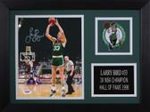 Larry Bird Autographed& Framed 8x10 Steelers Photo Auto PSA COA Design-8A