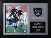 Bo Jackson Autographed & Framed 8x10 Raiders Photo Auto Beckett COA Design-8A