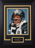 Jack Lambert Autographed & Framed 8x10 Steelers Photo Auto JSA COA Design-8C