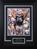 Howie Long Autographed & Framed 8x10 Raiders Photo Auto JSA COA Design-8C (Hands Up)