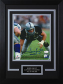 Howie Long Autographed & Framed 8x10 Raiders Photo Auto JSA COA Design-8C (3 Pt Stance)