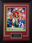 Jerry Rice Autographed & Framed 8x10 49ers Photo Auto Beckett COA Design-8C
