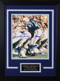 Johnny Unitas Autographed & Framed 8x10 Colts Photo Auto JSA COA Design-8C