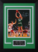 Larry Bird Autographed & Framed 8x10 Steelers Photo Auto Beckett COA Design-8C