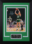 Larry Bird Autographed & Framed 8x10 Steelers Photo Auto PSA COA Design-8C