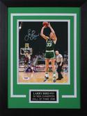 Larry Bird Autographed& Framed 8x10 Steelers Photo Auto PSA COA Design-8C