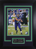 Russell Wilson Autographed & Framed 8x10 Seahawks Photo Auto Wilson COA Design-8C (Passing)