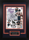 Walter Payton Autographed & Framed 8x10 Chicago Bears Photo Auto PSA COA Design-8C