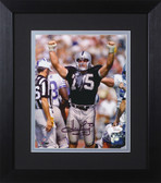 Howie Long Autographed & Framed 8x10 Raiders Photo Auto JSA COA Design-8E (Hands Up)