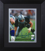 Howie Long Autographed & Framed 8x10 Raiders Photo Auto JSA COA Design-8E (3 Pt Stance)