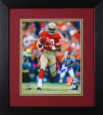 Jerry Rice Autographed & Framed 8x10 49ers Photo Auto Beckett COA Design-8E