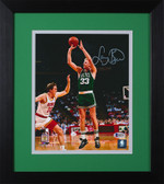 Larry Bird Autographed & Framed 8x10 Steelers Photo Auto Beckett COA Design-8E