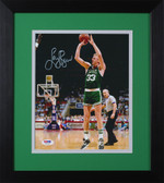 Larry Bird Autographed& Framed 8x10 Steelers Photo Auto PSA COA Design-8E
