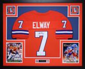 John Elway Autographed and Framed Orange Crush Denver Broncos Jersey Auto JSA COA