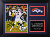 Peyton Manning Autographed & Framed 8x10 Broncos Photo Auto JSA COA Design-8A