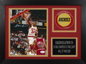 Hakeem Olajuwon Autographed & Framed 8x10 Rockets Photo Auto JSA COA Design-8A