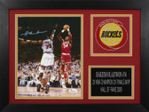 Hakeem Olajuwon Autographed & Framed 8x10 Rockets Photo Auto JSA COA Design-8A1