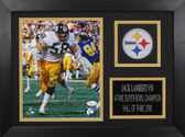Jack Lambert Autographed & Framed 8x10 Steelers Photo Auto JSA COA Design-8A1