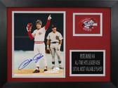 Pete Rose Autographed & Framed 8x10 Reds Photo Auto JSA COA Design-8A
